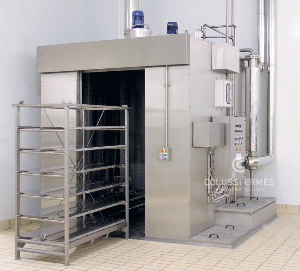 Lavage chariots pour fromage Colussi Ermes